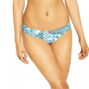 NWT Kona Sol Hipster Bikini Bottom XL Blue Floral